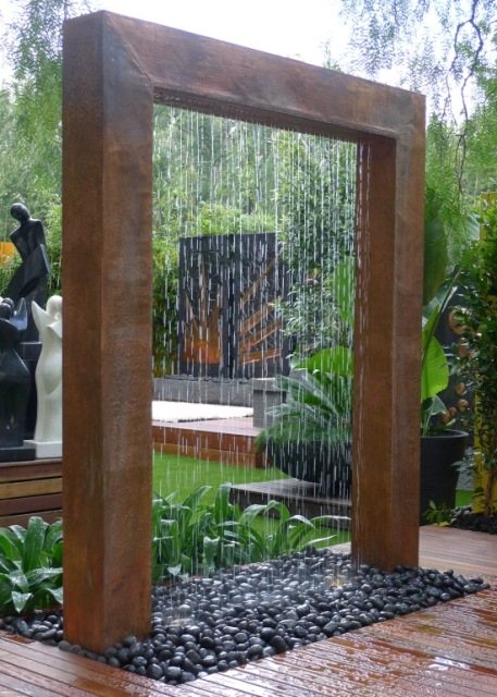 Rain Curtain Water Features