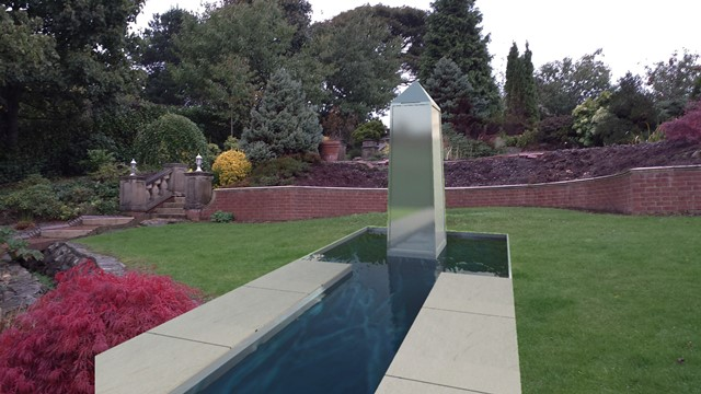 Stainless Steel Obelisk Water Feature