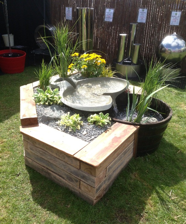 Raised Bed Waterfall Feature