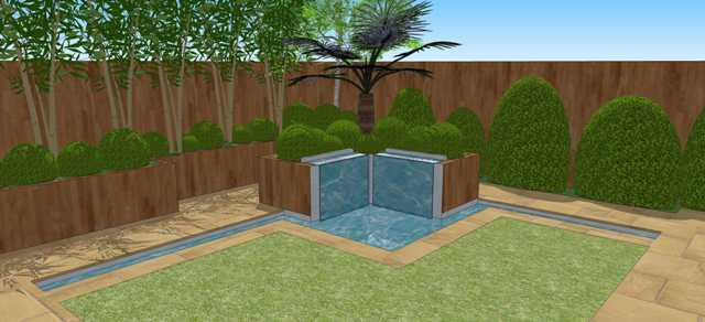 Twin Blade Water Feature